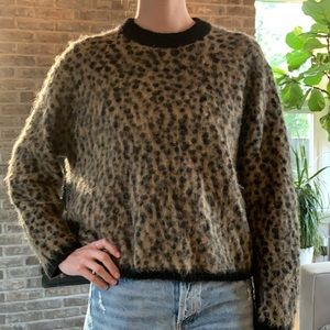 & other stories leopard print sweater
